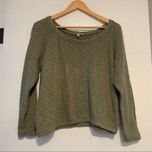 Zara | Trafaluc Green Knit Sweater